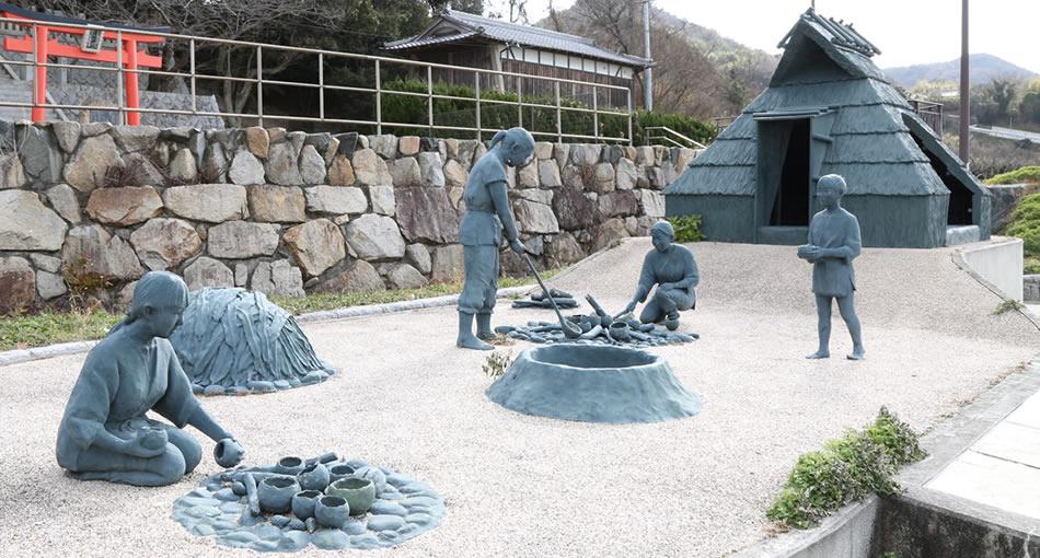 貴船神社遺跡・海人の土器製塩の様子