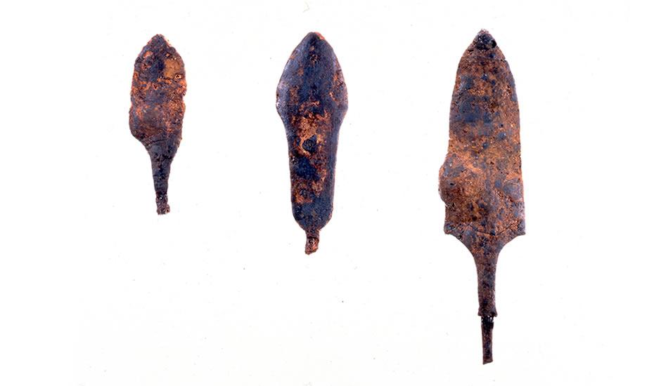 塩壺西遺跡・鉄製の鏃/兵庫県立考古博物館提供